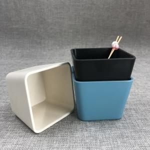 biodegradable bamboo fiber plain sugar bowl